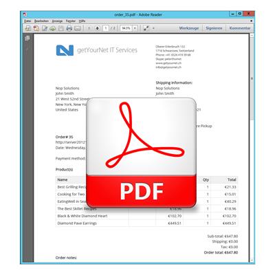 Bild von PDF Service Plugin