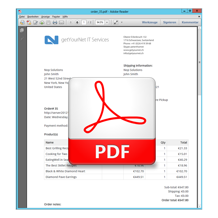 Picture of PDF Service Plugin